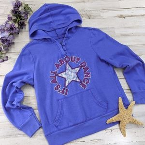 💜Justice All About Dance Purple Hoodie. Size 10